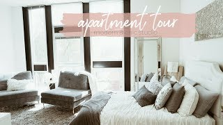 Studio Apartment Tour ⎜Modern + Glam