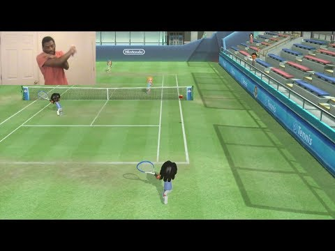 Wii Sports Club Gameplay #1: Tennis Warm-Up (Facecam)
