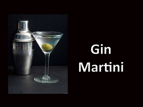 Dry Gin Martini Cocktail Drink Recipe Youtube