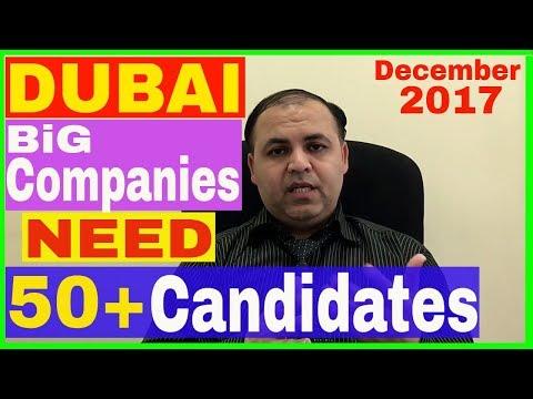 Dubai Big Companies Need Many Candidates    Jobs in Dubai Part 1