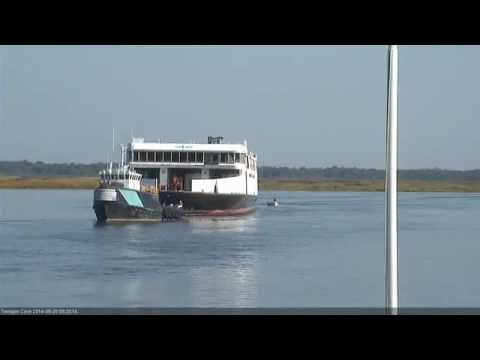 Towing the Cape May Ferry Out of Maurice River