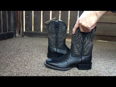 0b6db79c9e7 Ariat Mens Sport Western Wide Square Toe Western Cowboy Boots - YouTube
