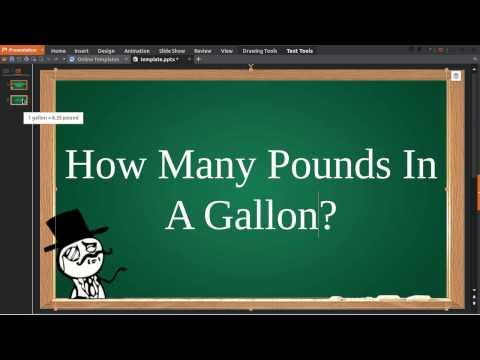 How Many Pounds In Gallon