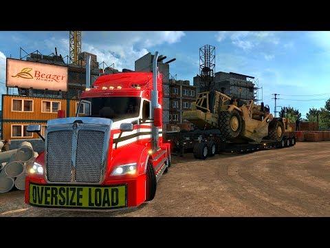 KENWORTH T610 Australiano | Transportando Maquinaria Pesada de Reno, Nevada a Redding, California