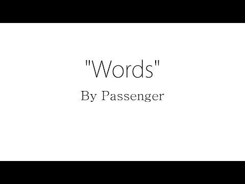Words - Passenger (Lyrics)