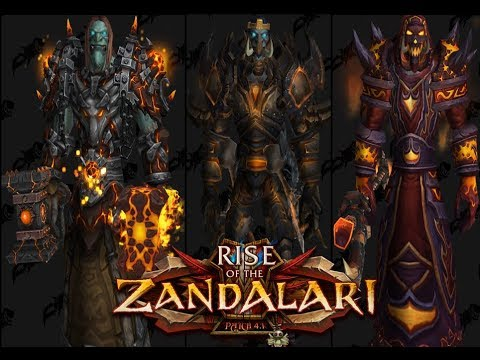 Wow Zandalari Troll With Awesome Old Gear Preview Youtube