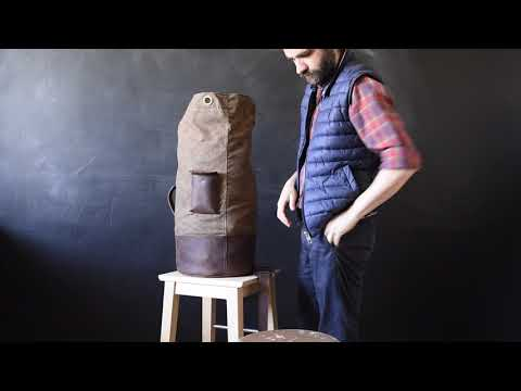 How To Close A Duffle Bag Made Of Waxed Canvas And Leather