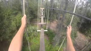 Orlando Tree Trek Adventure Course - Red Course part 2