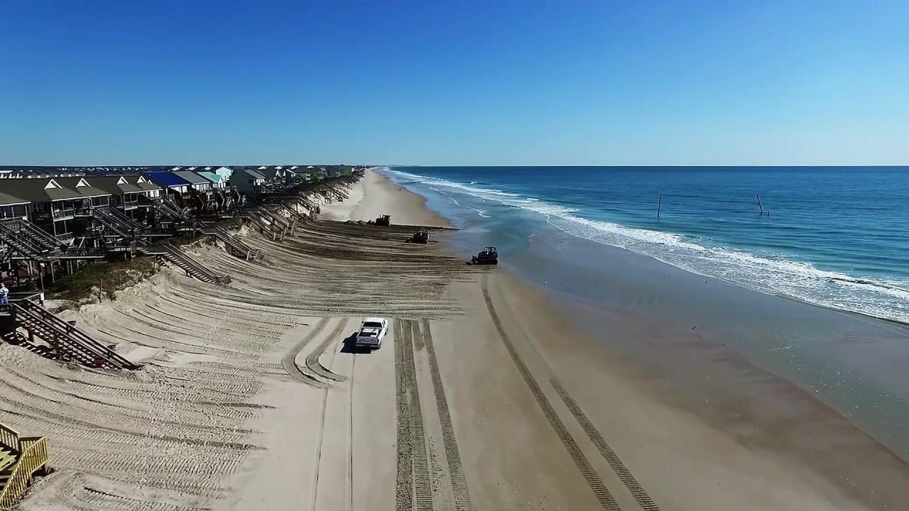 Topsail Island Sand Push Aerial View