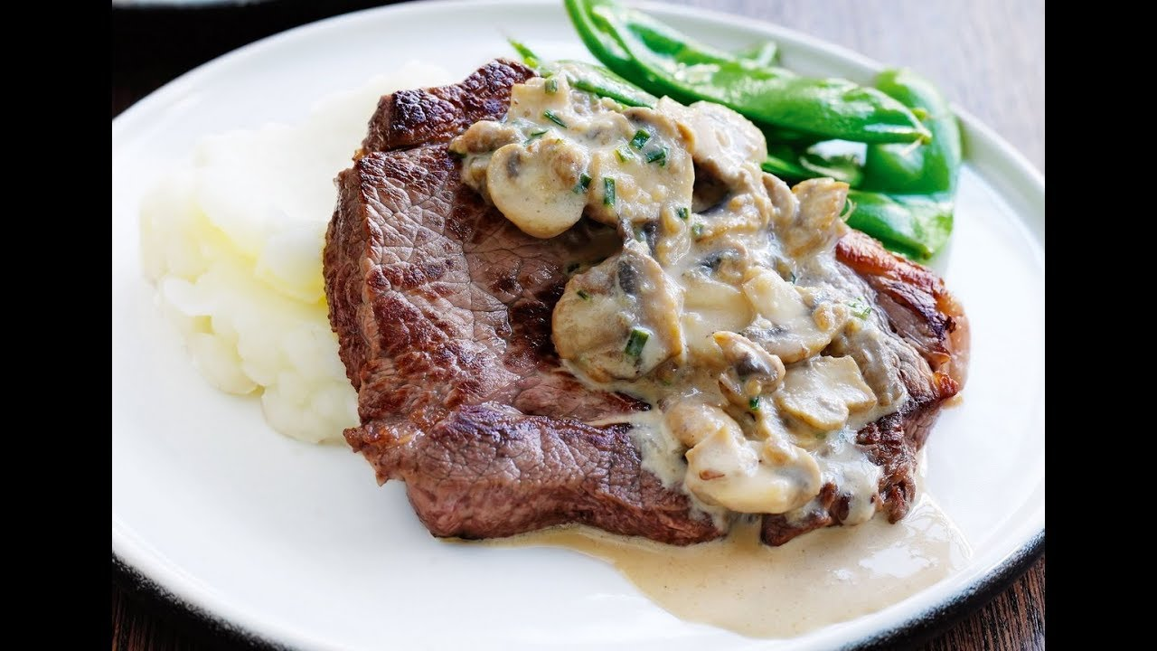 Steak Cream Mushroom Sauce Steak Mushroom Sauce British Beef Steak Horseradish Sauce Youtube