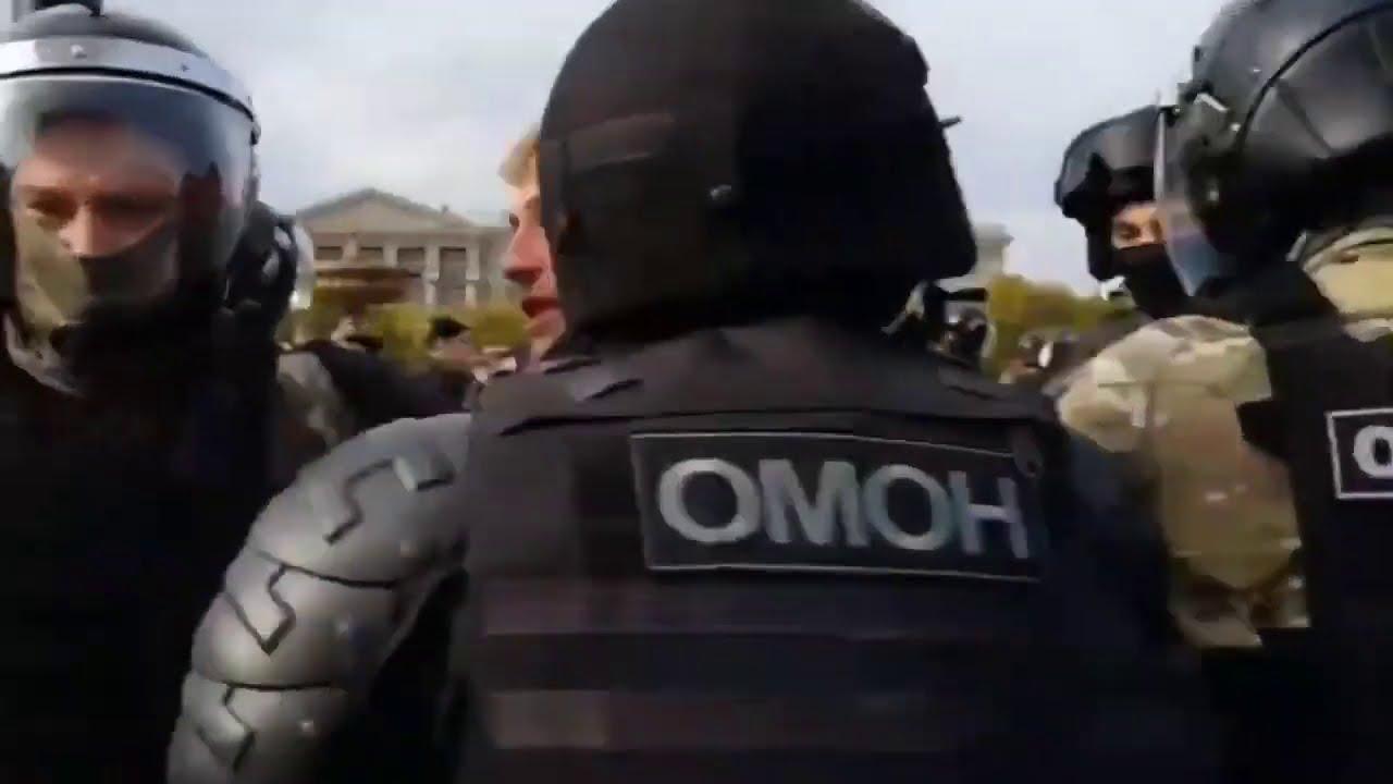 Хабаровск Задержания мирных протестующих 10.10.2020