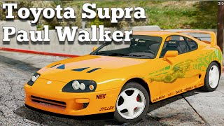 GTA V PC Mods - Toyota Supra Paul Walker (Fast and Furious) [DOWNLOAD]