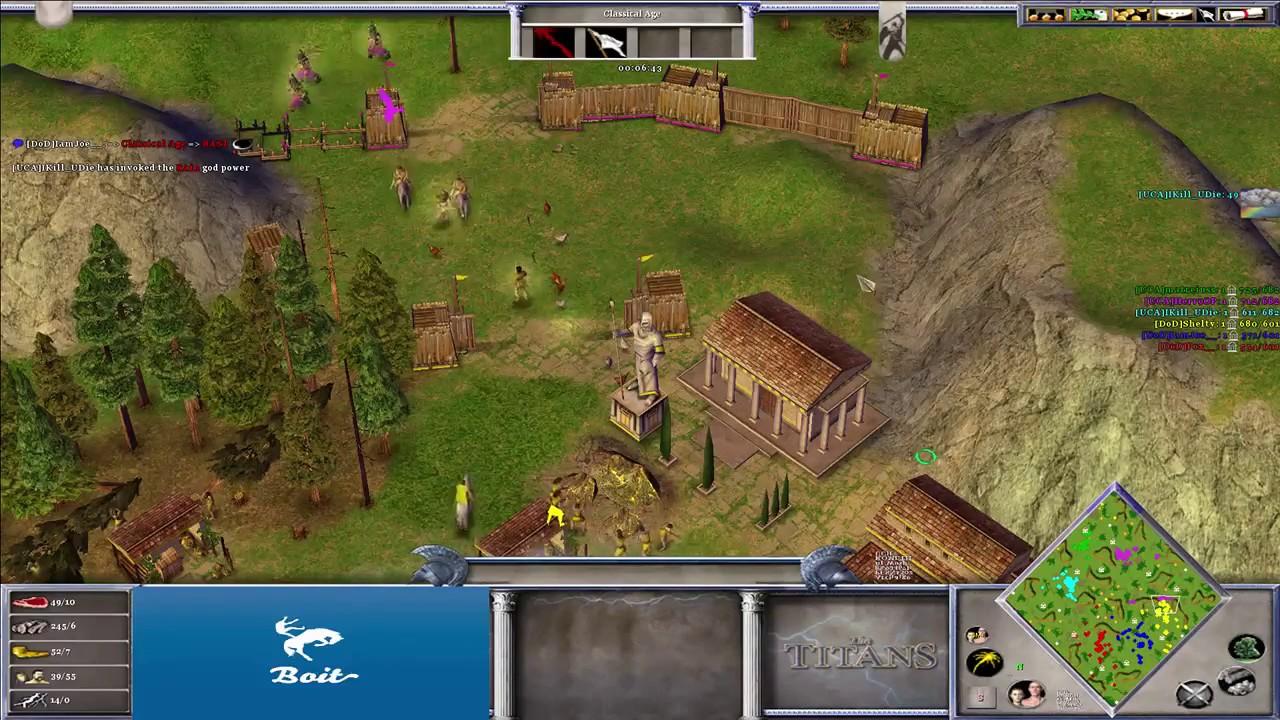 UCA vs DoD - Age of Mythology: The Titans (Hybrid Mod) (Game 2)