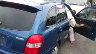 Видео-тест автомобиля Mazda Familia (синий, ZL-DE, BJ5W-212437, 2000г.)