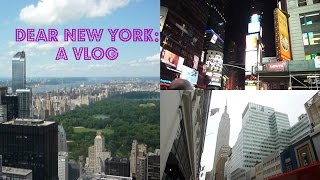 Dear New York: A Vlog Thumbnail