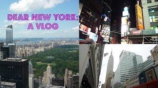 Dear New York: A Vlog Thumbnail