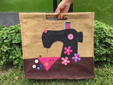 Sonia franco como hacer un bolso para costura 1 5 youtube - Bolsos para hacer ...