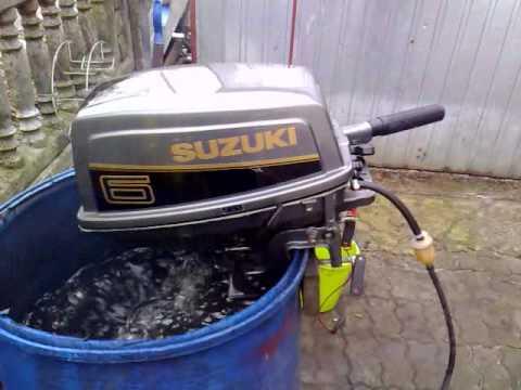 Suzuki 6 hp outboard motor 1993r. 2 stroke (dwusuw) - YouTube