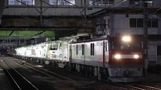 東北本線 EH500形2074レ 盛岡駅発車 2019年1月13日