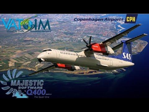 Majestic Q400 Prepar3d to fly to Copenhagen on Vatsim
