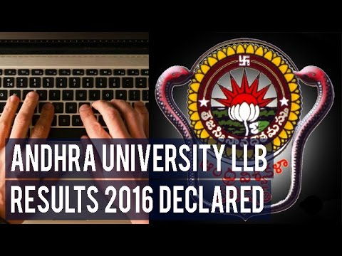 Andhra University LLB Results 2016 declared