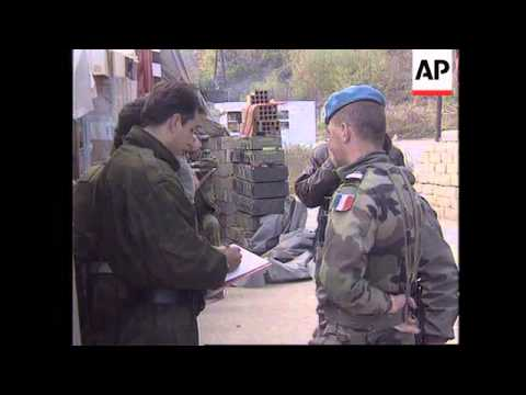 BOSNIA: GOVERNMENT AID CONVOY ARRIVES IN GORAZDE