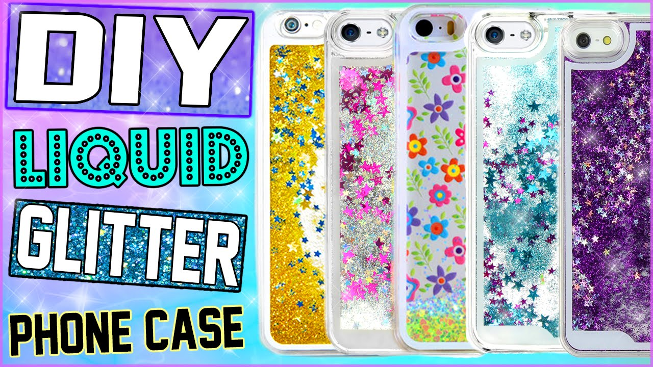 Diy liquid glitter iphone case make your own water for How to make phone cases at home