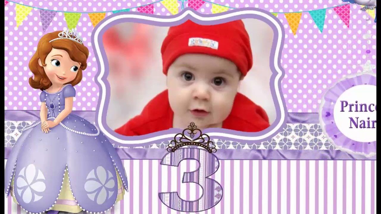 Sofia princess theme whatsapp baby girl birthday invitation sop001 sofia princess theme whatsapp baby girl birthday invitation sop001 stopboris Images
