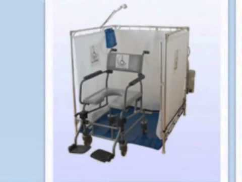 Portable Wheelchair Shower for Disabled Bathing Alternative - YouTube