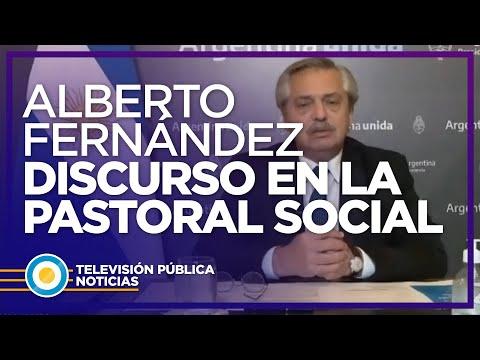 Alberto Fernández en la Pastoral Social