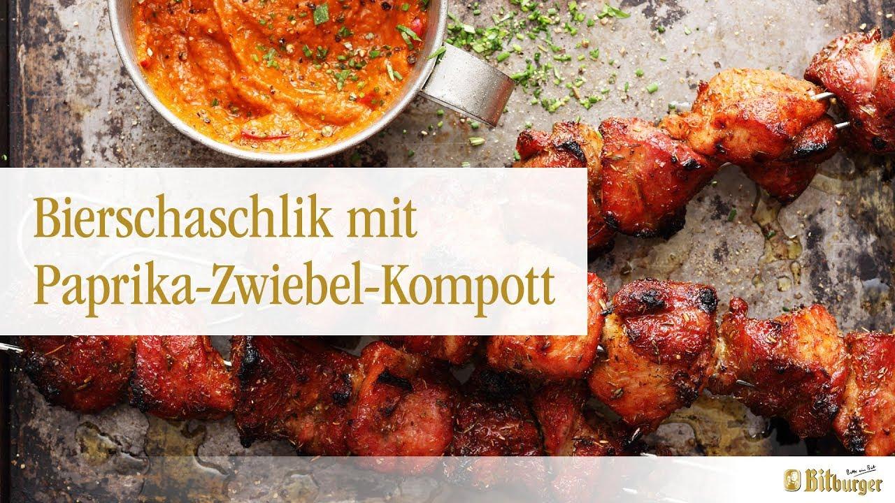 Weber Elektrogrill Einfetten : Bitburger und weber® grillen: bierschaschlik mit paprika zwiebel