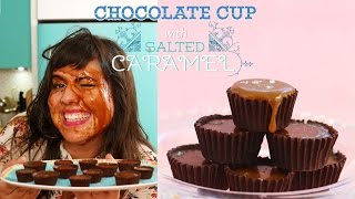 Easy Chocolate Cups With Salted Caramel- 4 Ingredients Only