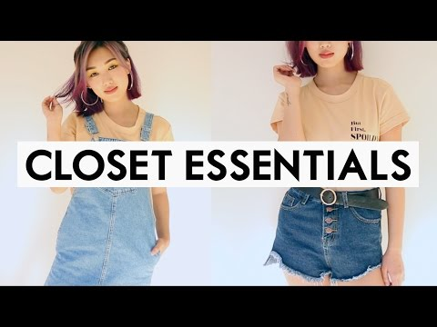 👗 23 EVERYDAY CLOSET ESSENTIALS YOU NEED! | Back To School Outfits Packing List! ✅