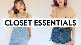 ???? 23 EVERYDAY CLOSET ESSENTIALS YOU NEED! | Back to School Outfits Packing List! ✅