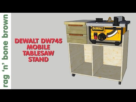 Mobile Tablesaw Stand For DeWalt DW745 (part 1 Of 2) - Workshop Re-Model Episode 2