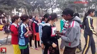 Girls in que for Jammu police constable physical test