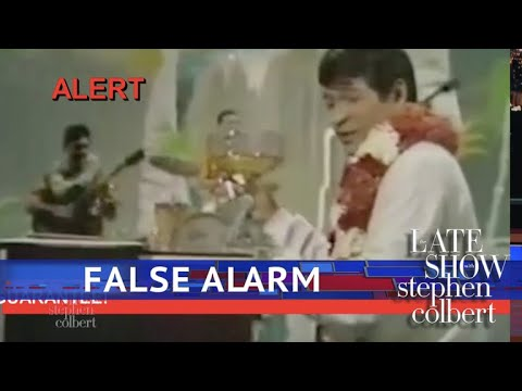Watch the Late Show's Hawaii Emergency Alert System!