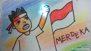 Cara Menggambar Indonesia Merdeka Mulyadi Art Class Youtube