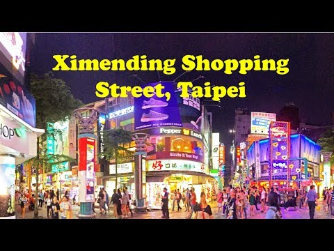 A Walk in Ximending Shopping Street, Taipei, Taiwan