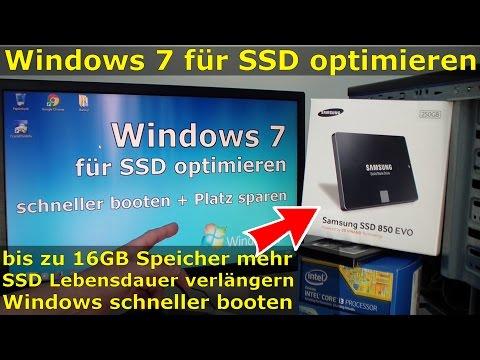 Windows 7 Für SSD Optimieren Und Einstellen - Win7 Schneller Machen Und Platz Sparen