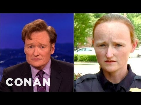 Conan Has Been Moonlighting As A Police Lady! - CONAN on TBS