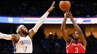 Houston Rockets 24 Three Pointers vs Oklahoma City Thunder! (10/3/2017) NBA Preseason 2017