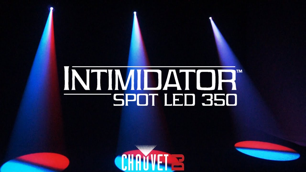 intimidator spot led 350 by chauvet dj youtube. Black Bedroom Furniture Sets. Home Design Ideas