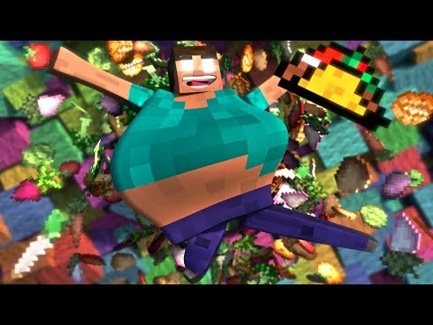 Fat Herobrine Life - Minecraft Animation (Music Video) ♪