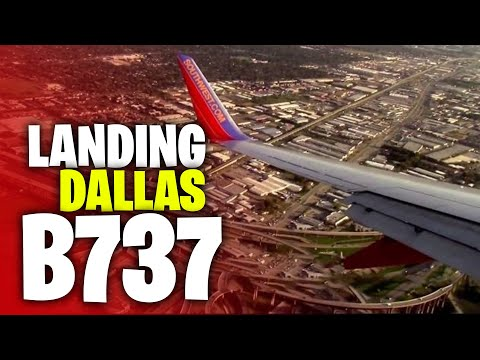 Afternoon Sunset Landing At Dallas Love Field (DAL)- Southwest Airlines (HD)