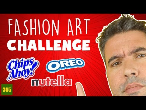 FASHION ART CHALLENGE | Princesses Nutella - Oreo - Chips Ahoy!