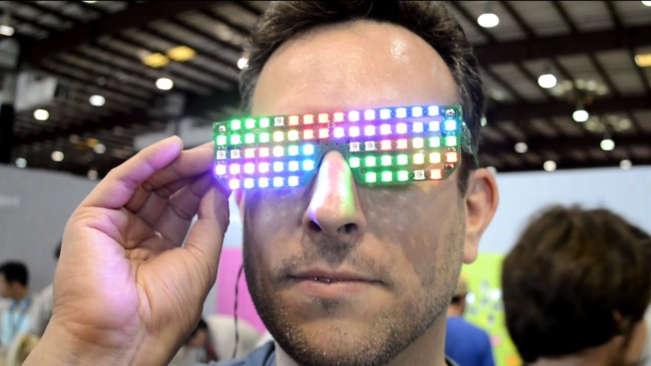 7dde8dc3bfb Blinky Shades Use WS2812B RGB LED and PCB Substrate Hinges - YouTube