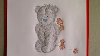 Рисуем мишку Тедди с букетом ромашек. Уроки рисования. Просто(Здравствуйте! Предлагаю вашему вниманию видеоролик, где я показываю, как очень просто нарисовать мишку..., 2015-06-23T12:33:38.000Z)