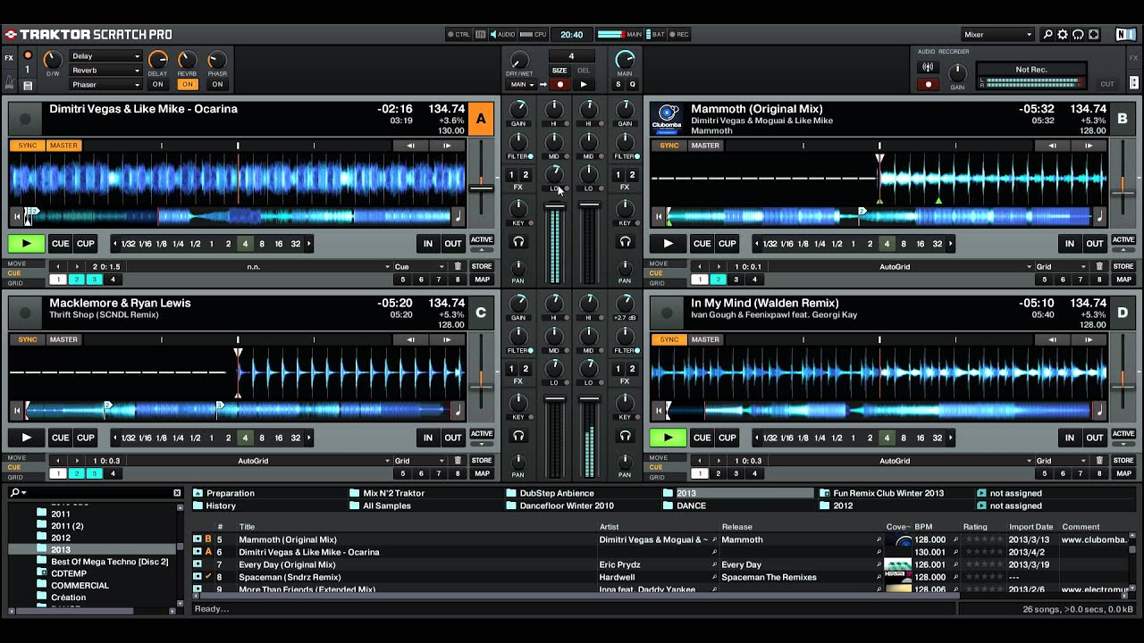Mix 2013 Sur Traktor Pro 2  N U00b03  - Electro  Dance