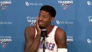 Thunder forward paul george talks about when and how he decided to stay in oklahoma city.